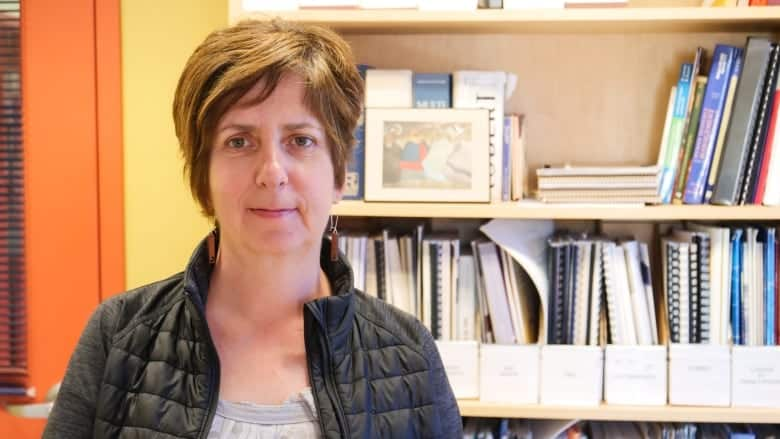 "CBC News - Isabelle Salesse is executive director of the Association of Franco-Yukonnaise, which created a ""one-stop shop"" for services involving literacy. She is one of 14 Canadians recognized this year with the Council of the Federation Literacy Award. (Mario De Ciccio/Radio-Canada)"