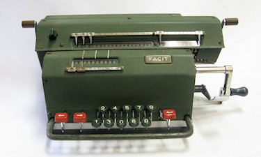 Facit Model LX mechanical 9 digit calculator