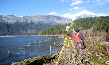 GPS control for the Pitt Lake IR#4 boundary survey, S. Porcellato, 2011.