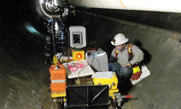 3D Laser Scanning, and precise traversing of 8Km of the GVRD Seymour-Capilano twin water tunnels. C. El Araj, 2008.