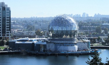 Science World from BC Place Roof