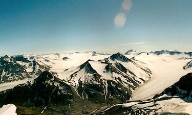 Mountains of the Alaska Panhandle on GPS Ltd. 1987 TRIM GPS control survey.
