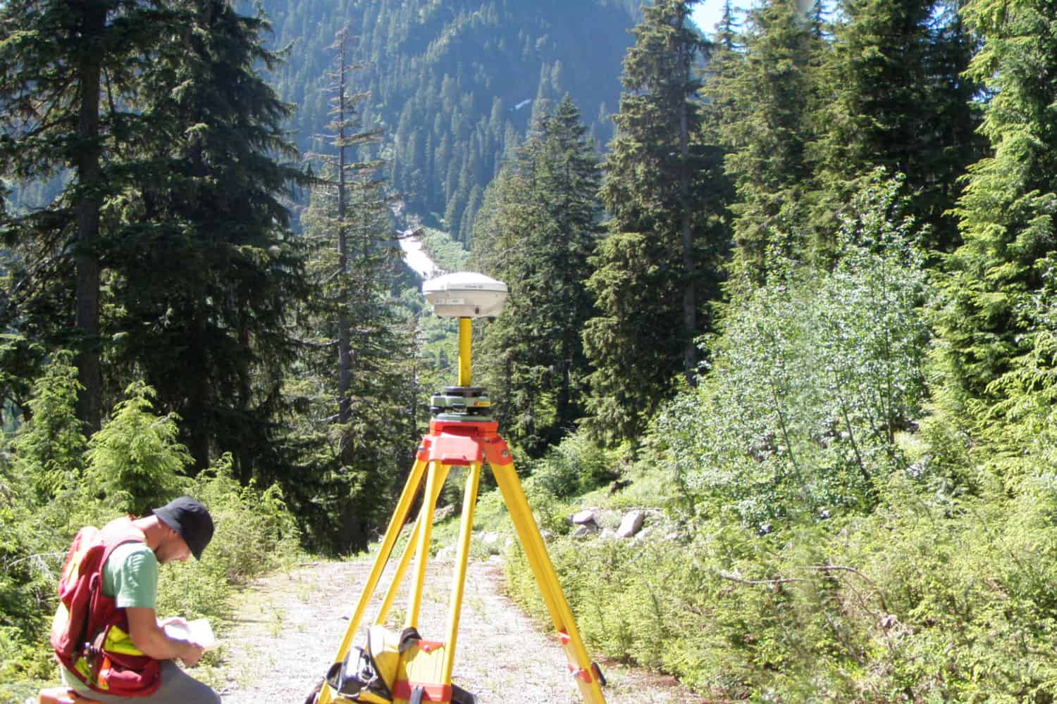 GPS Photo control survey for 2010 Olympic mapping project for the DND. N. Manchon. Capilano water shed, N.Van., 2009.