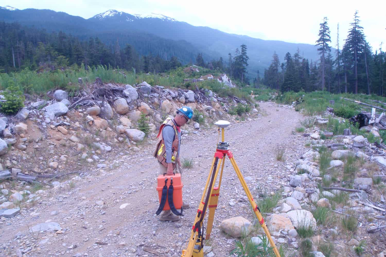 GPS Photo control survey for 2010 Olympic mapping project for the DND. J. Newton. Whistler, BC, 2009.
