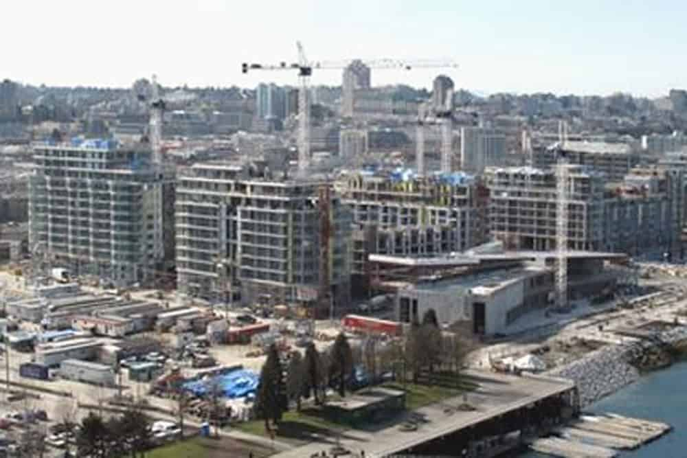 Construction of the 2010 Olympic Village in Vancouver