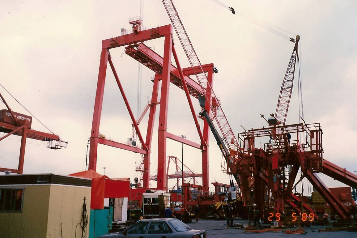 Centerm Container Crane precise as built, 1989.
