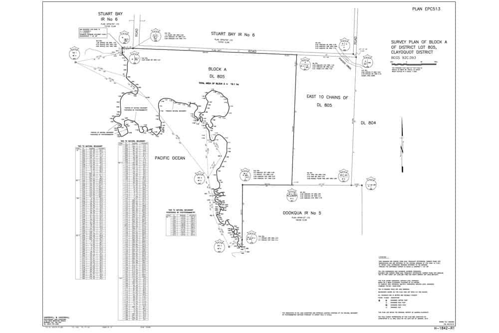 Crown Land plans of DL805 for Uchucklesaht, 2009.