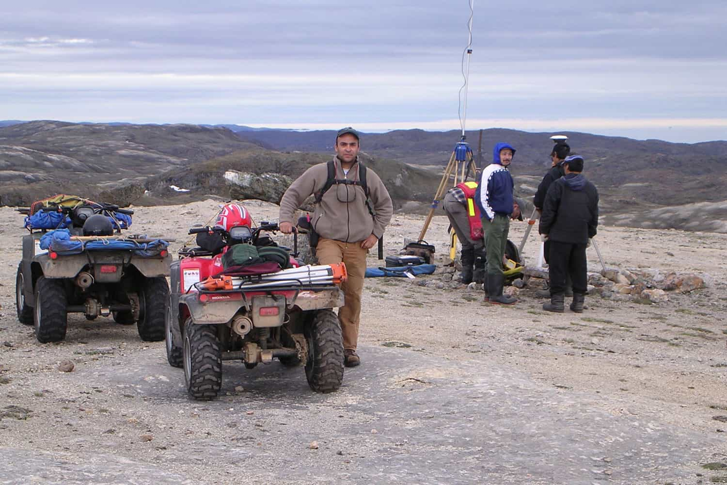 C. El-Araj on Nunavut clean-up survey in Kimmirut, NU, 2003,
