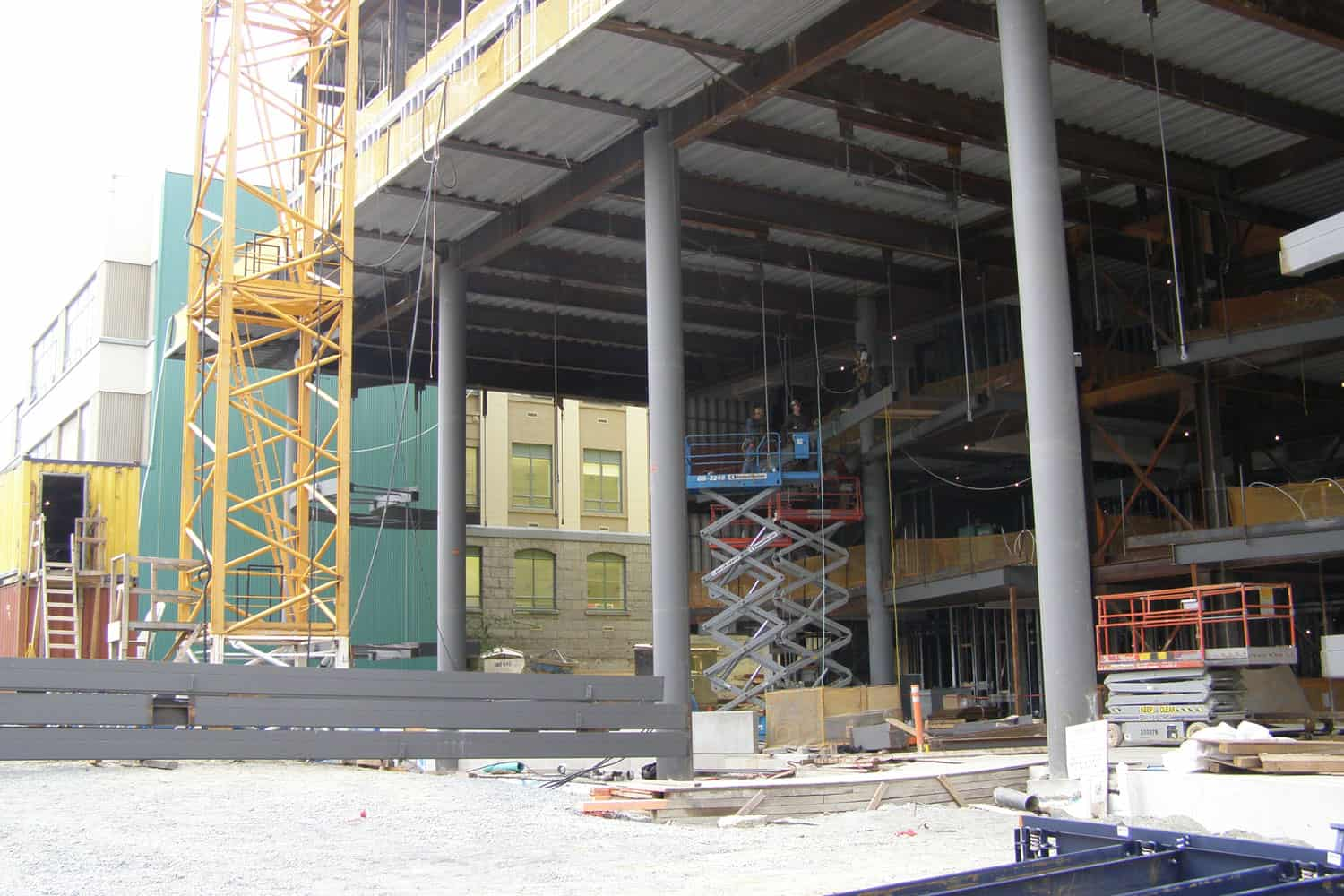 During construction of the ICORD facility at VGH, 2007.