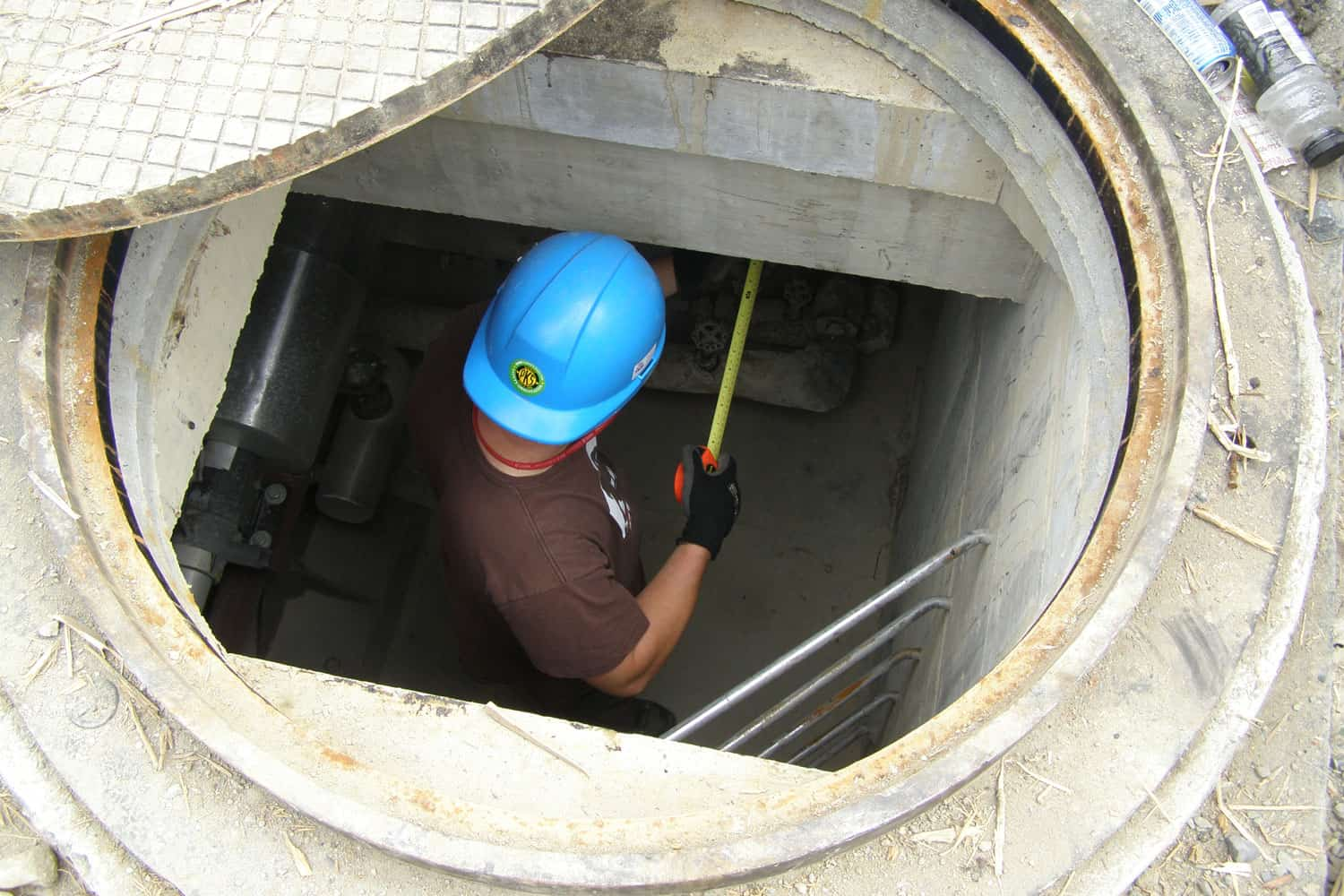 B. Elke measuring as built details in underground services during the construction of ICORD at VGH, 2007