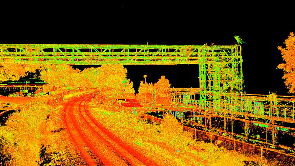 Underhill point cloud of overpass